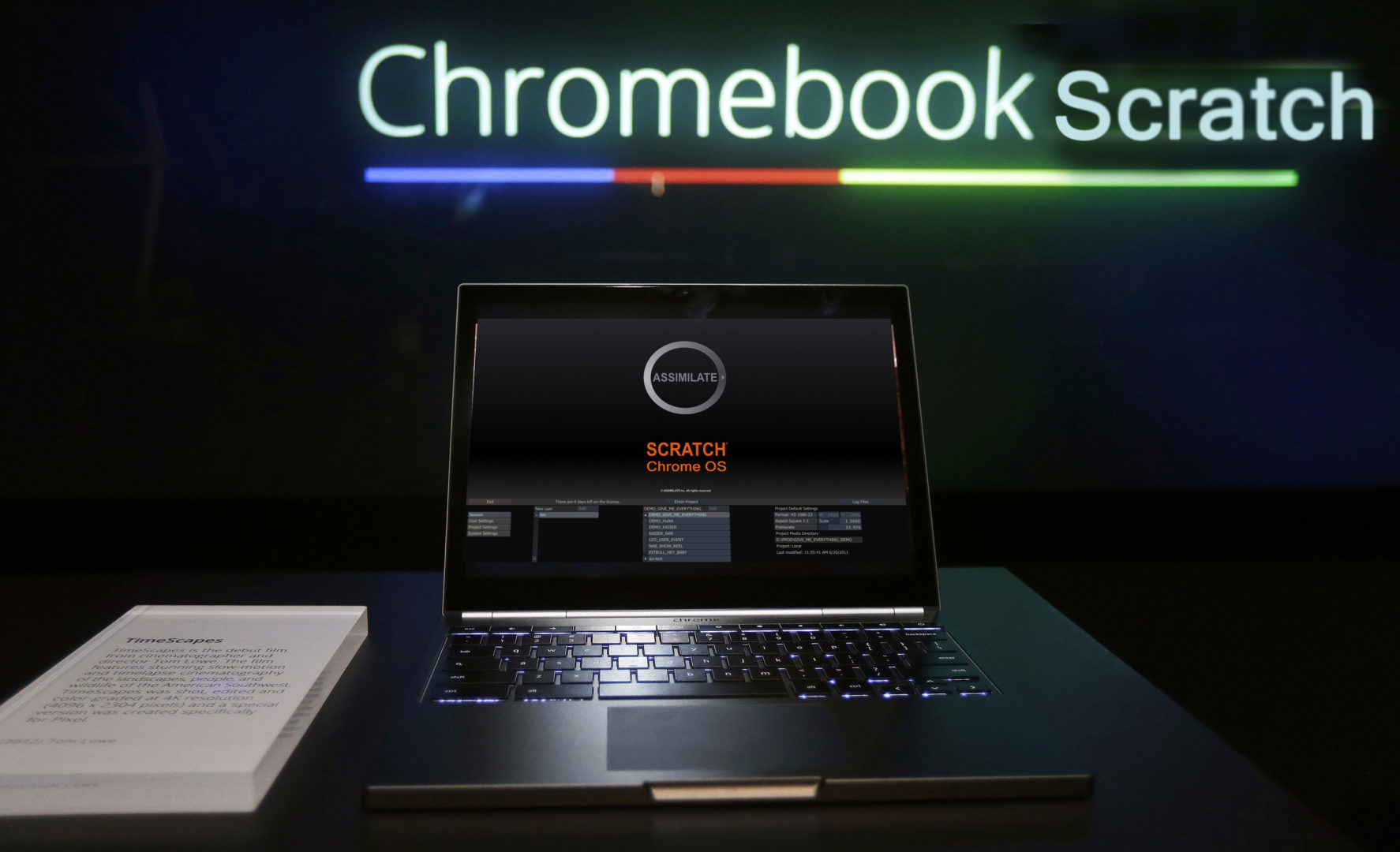 The Google Chromebook Pixel laptop computer is shown at an announcement in San Francisco, Thursday, Feb. 21, 2013. Google is adding a new touch to its line of Chrome laptops in an attempt to outshine personal computers running on software made by rivals Microsoft and Apple. (AP Photo/Jeff Chiu)