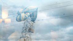Ballon ueber Strommast Aufmacher