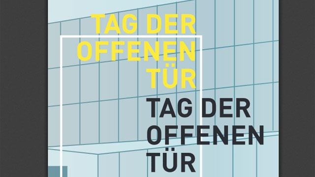 Tag der offenen tür plakat design  HFF München – Tag der offenen Tür - DIGITAL PRODUCTION