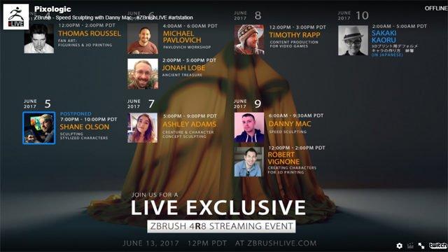 Pixologic ZBrush 4R8 Live-Event