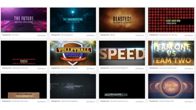 Motion Graphics Templates