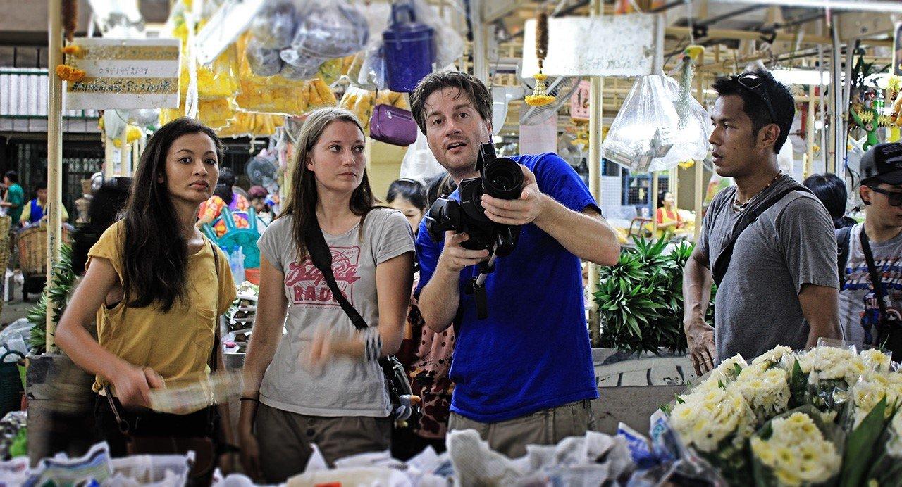 Szenendreh mit Schauspielerin Esther Maaß in Thailand