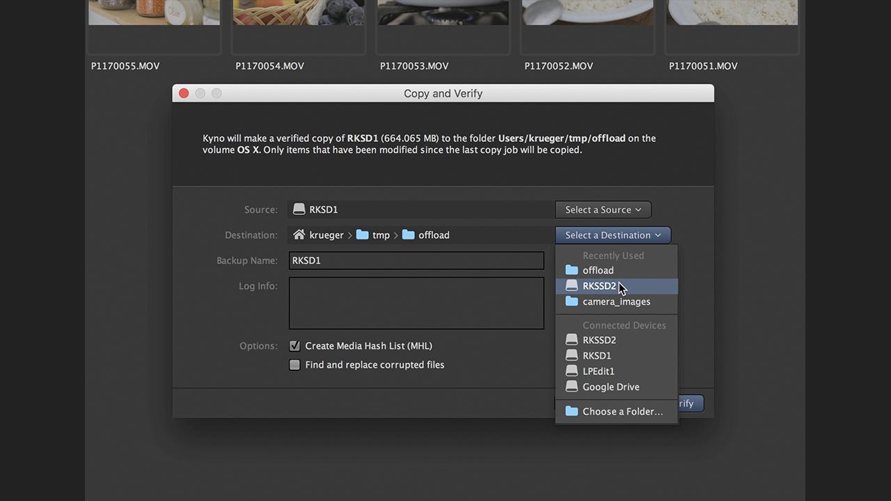 """Kyno 1.6 """"Copy & Verify"""""""