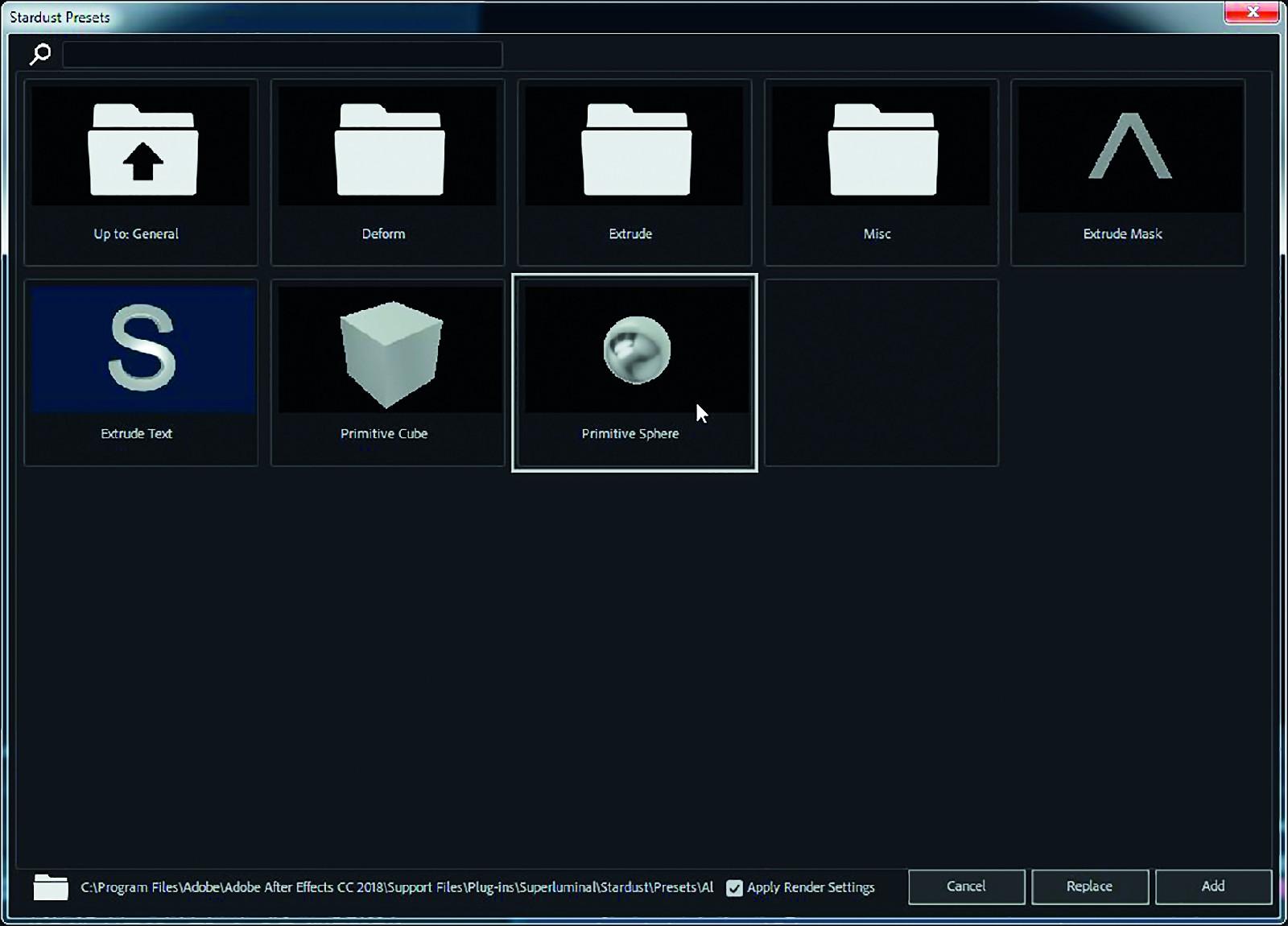 Die Animationen aus dem Stardust Preset Browser helfen beim Einstieg in die Materie.