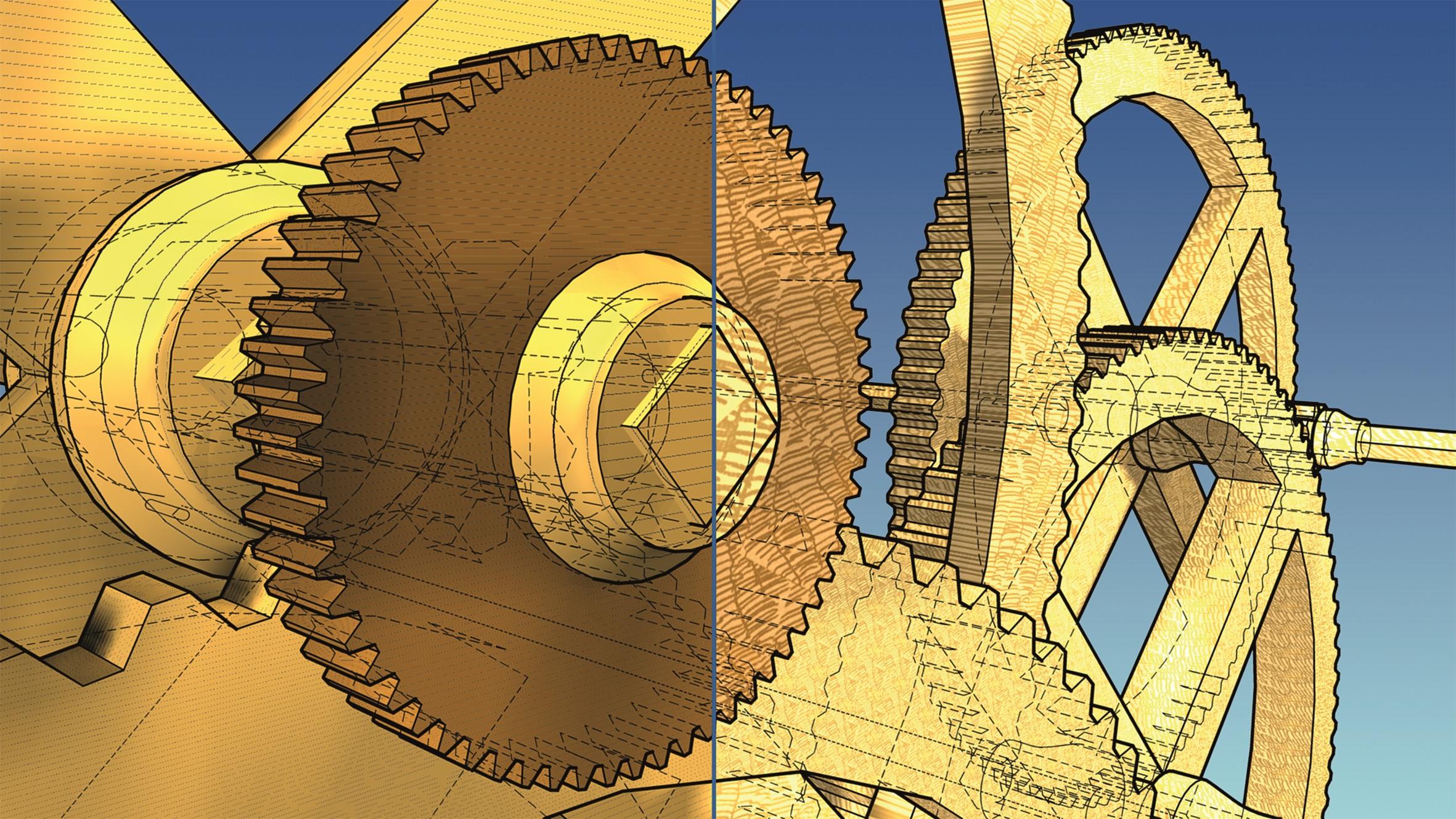 Abbildung 8: Finaltoon-Materialien mit unterschiedlichen zugewiesenen Schraffuren