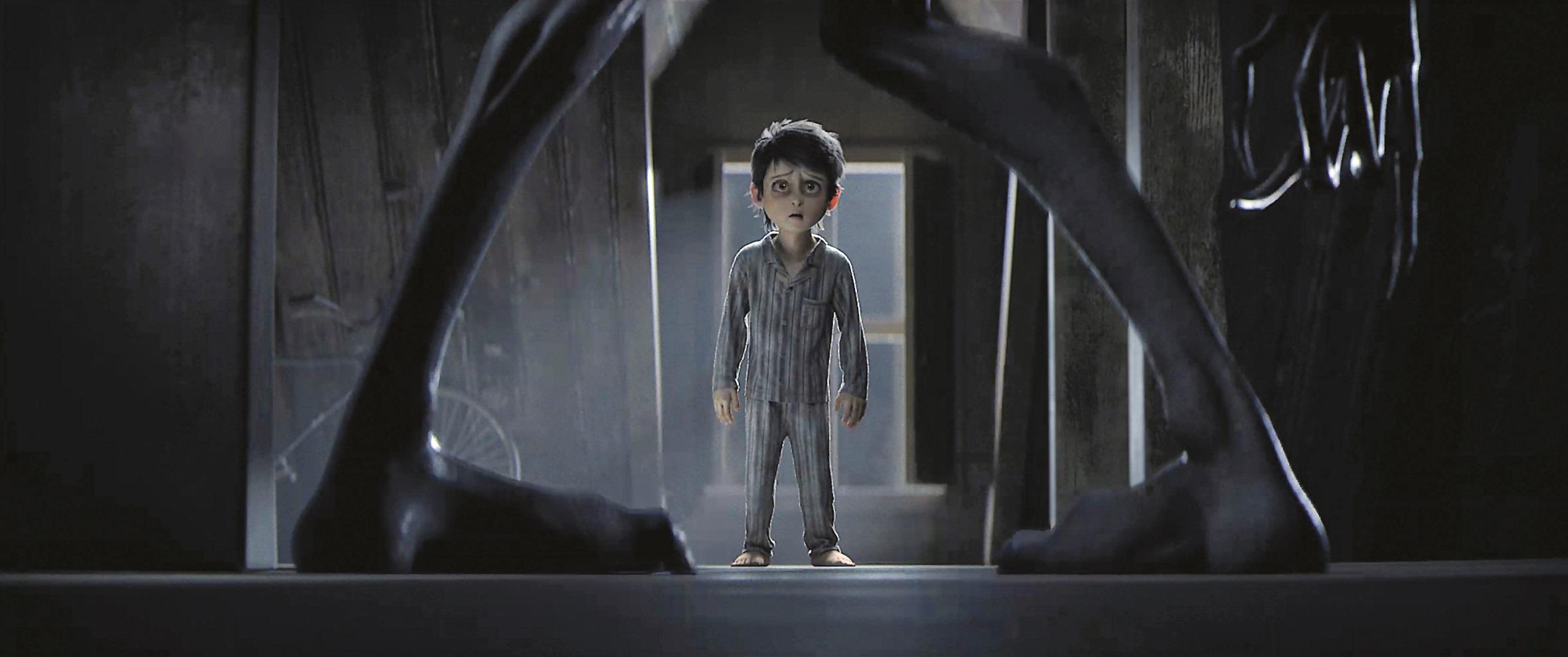 Keine Fluchtmöglichkeit mehr: Der Junge muss sich seinen Monstern stellen.