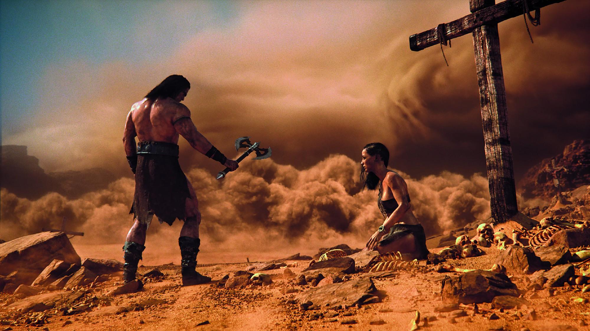 Der Sandsturm wurde mit Houdini simuliert, Anpassungen liefen im Anschluss in Nuke.