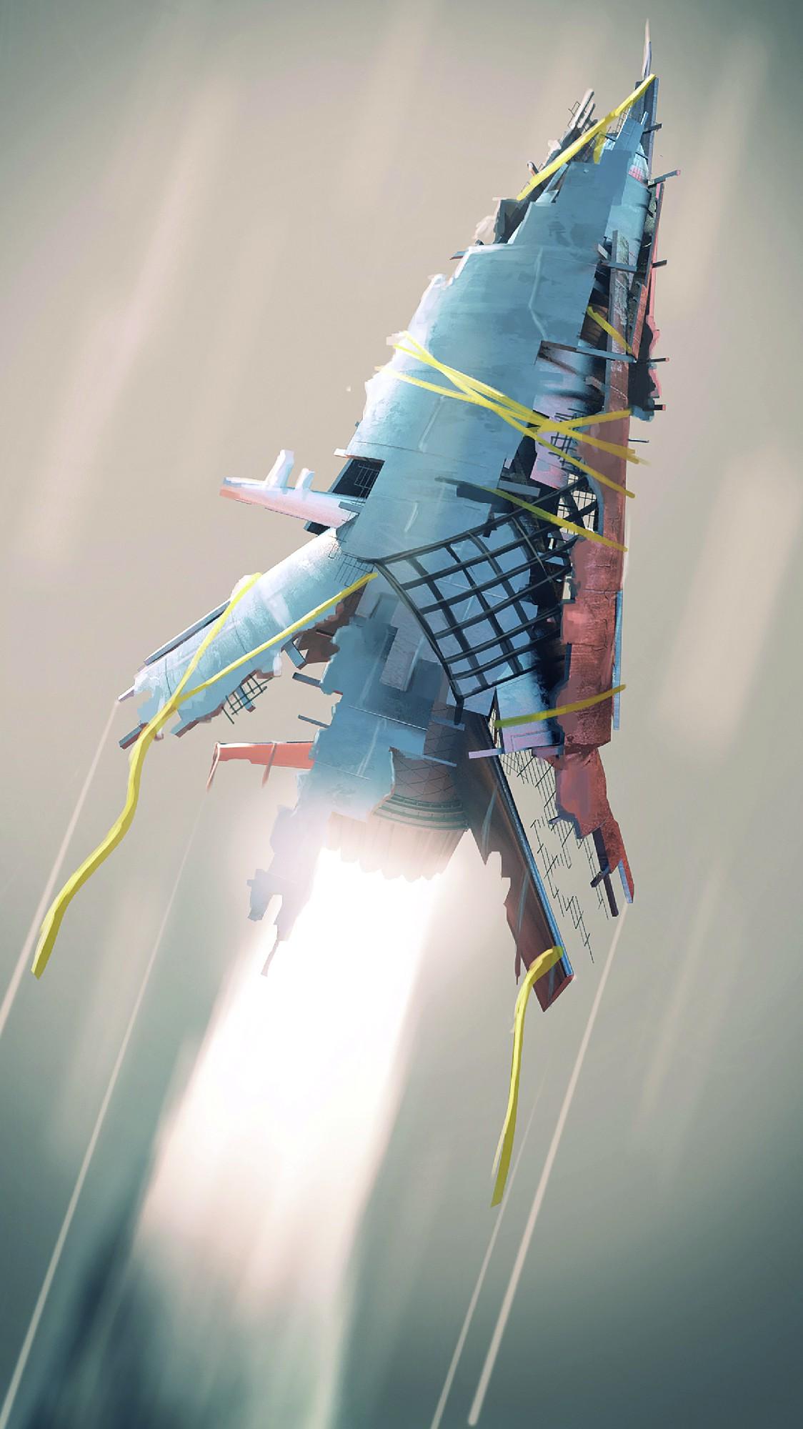 Concept Art der Rakete