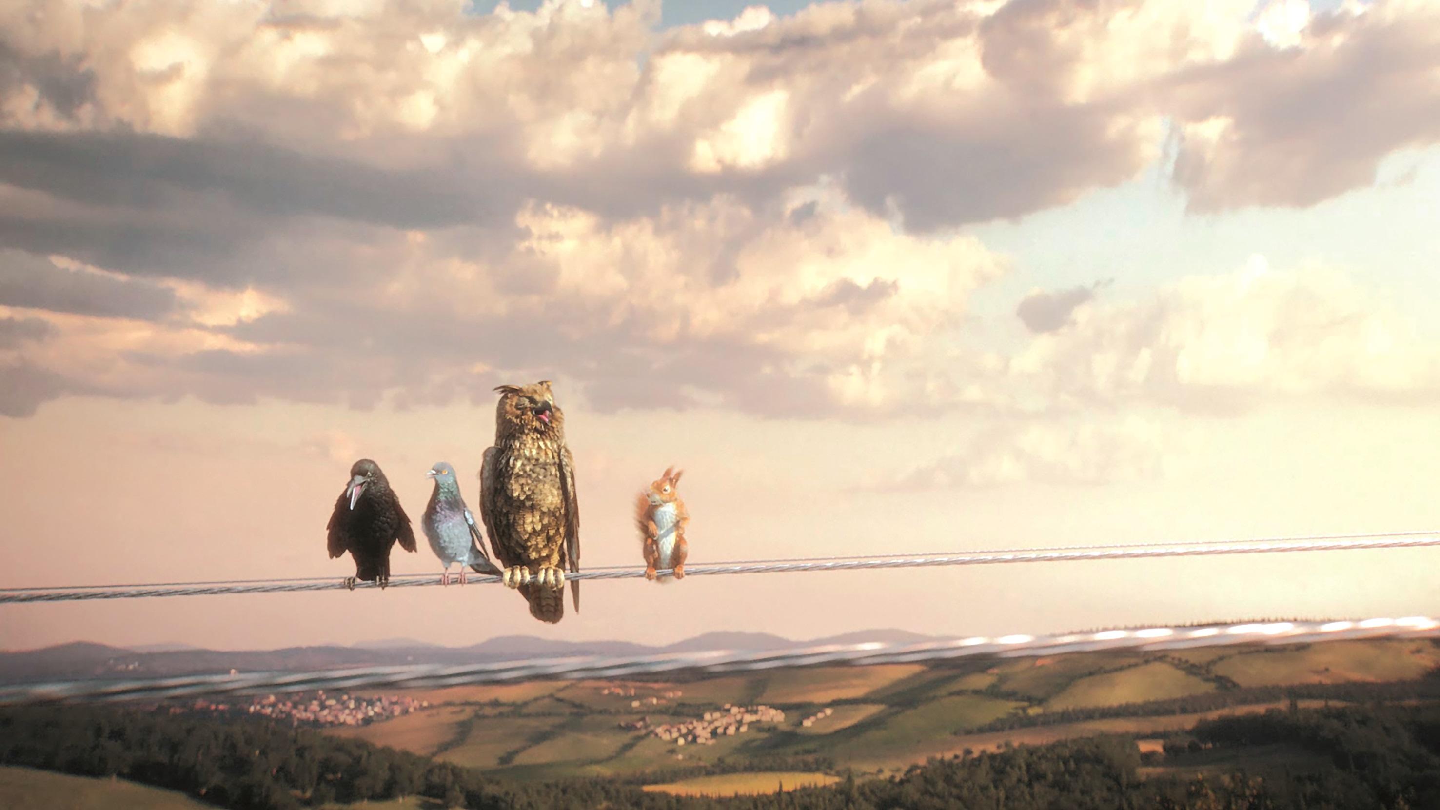Das Environment ist ein großes Matte Painting von Steven Cormann. Neben Photoshop kam für die 3D-Bäume und -Wälder Vue zum Einsatz.