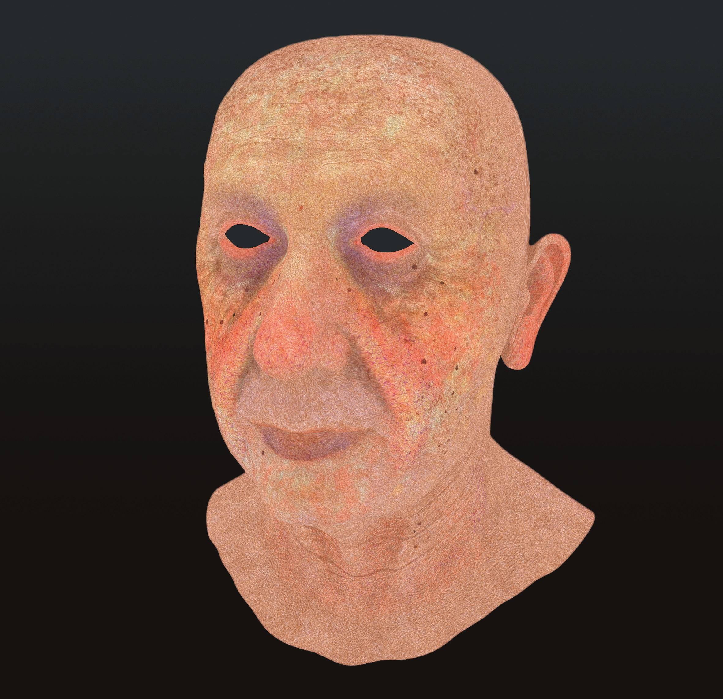 Zum Einfärben der Haupttöne des Gesichtsbereiches fügte der Artist Ebenen mit dem Blending-Modus Color ein.