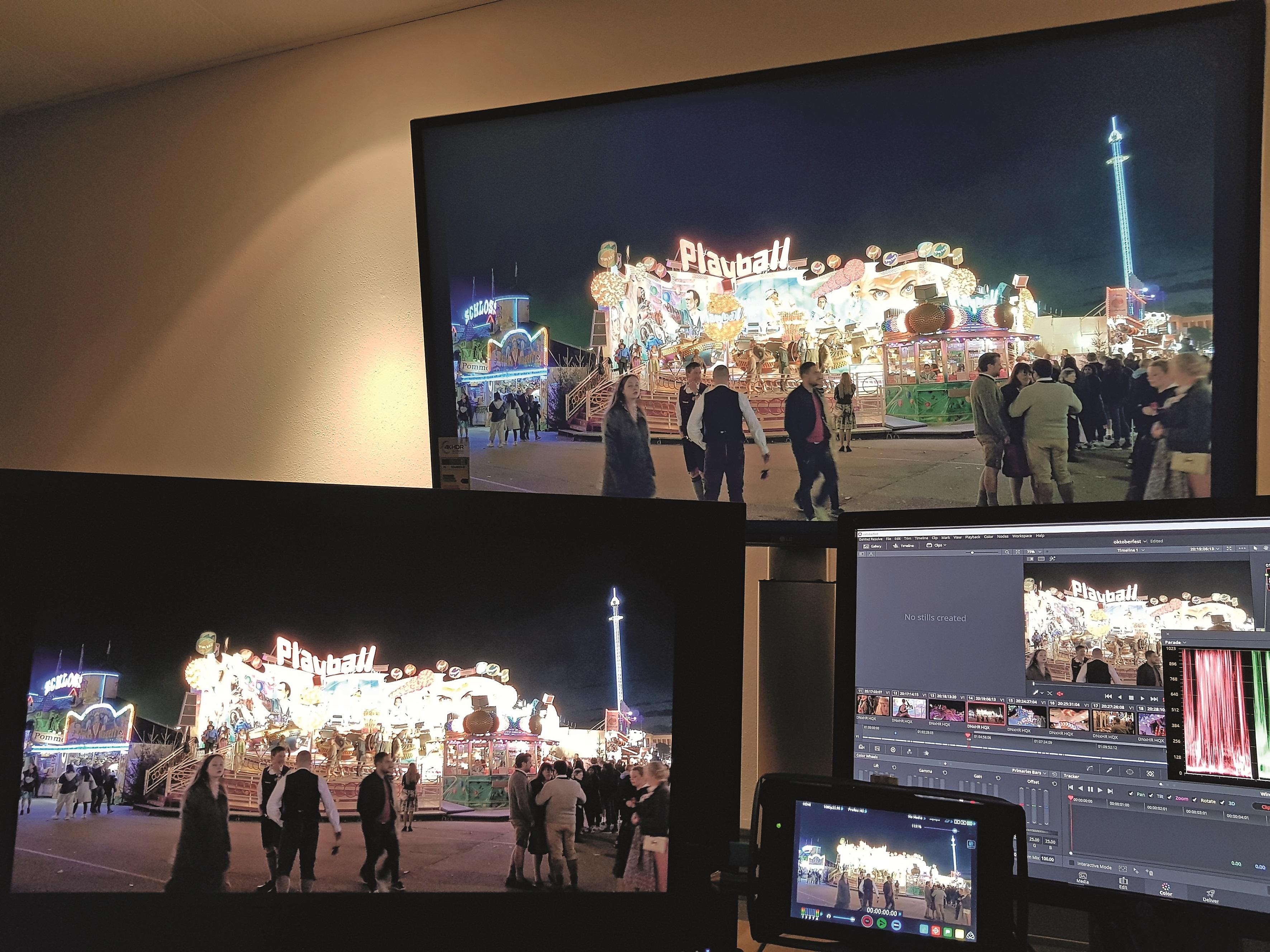 Sony BVM x3OO (OLED): 1.OOO Nits (bei bis zu 2O% Bildfläche) Eizo CG CG3145 (LCD): 1.OOO Nits (kommt demnächst auf den Markt, Testgeräte sind im Umlauf) Dolby Pulsar (LCD): 4.OOO Nits (nicht kommerziell kaufbar, nur ausgewählte Produktionen für high-end Kino/Bluray Postproduktion)