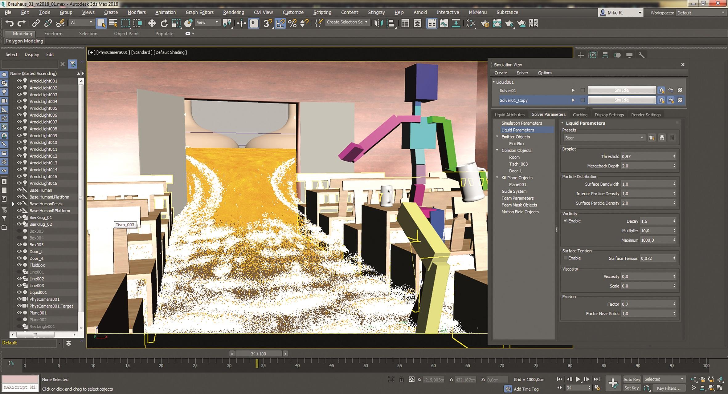 Die ersten Simulationen zeigen schon im Ansichtsfenster, wie das finale Resultat aussehen könnte.