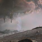 Die Planetenatmosphäre mit Kometen realisierte Framestore mit Matte Paintings.