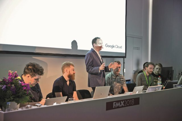 """At FMX: Foundry, Google, and two of the first users, VFX Supervisor Hugo Guerra from """"Fire without Smoke"""" and CG Supervisor Patton Tunstall from ATK PLN"""