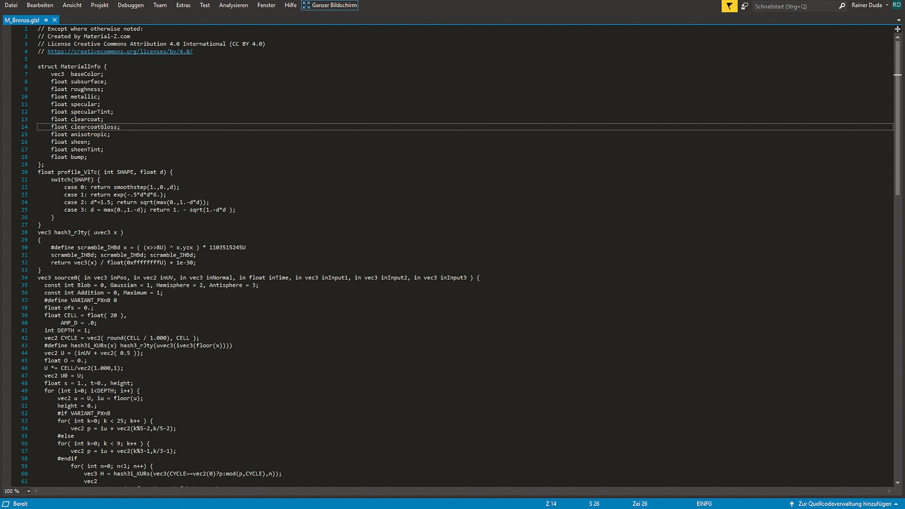 Der Code des bestehenden Materials basiert auf GLSL und kann somit portiert werden.