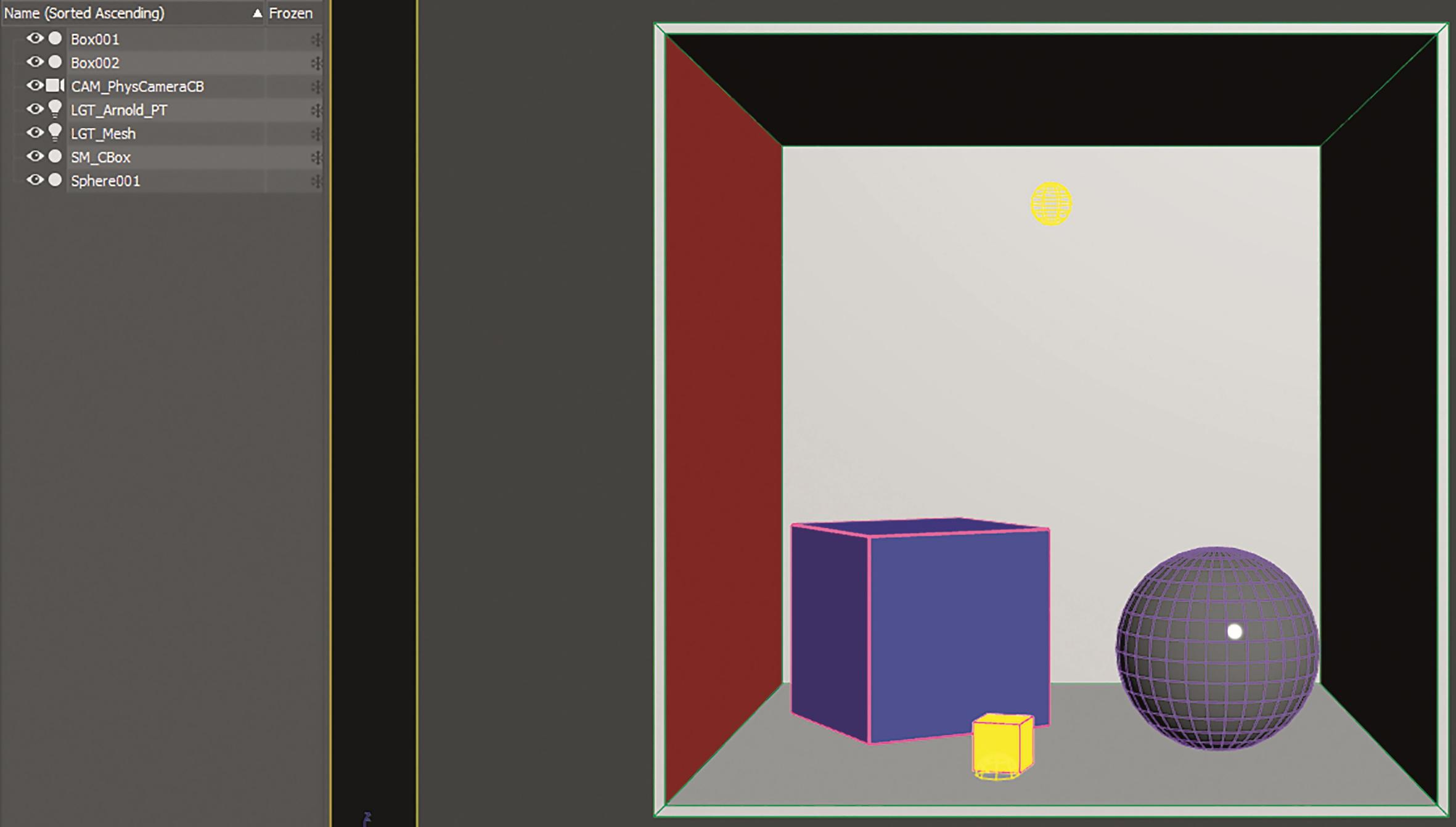Ein wichtiger Bestandteil der Szene ist eine Kamera mit physikalischen Eigenschaften. Exposure-Werte können festgelegt und Überbelichtung in der Engine minimiert werden.