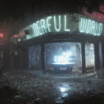 Finales Bild des Shops mit zerstörten Fenstern