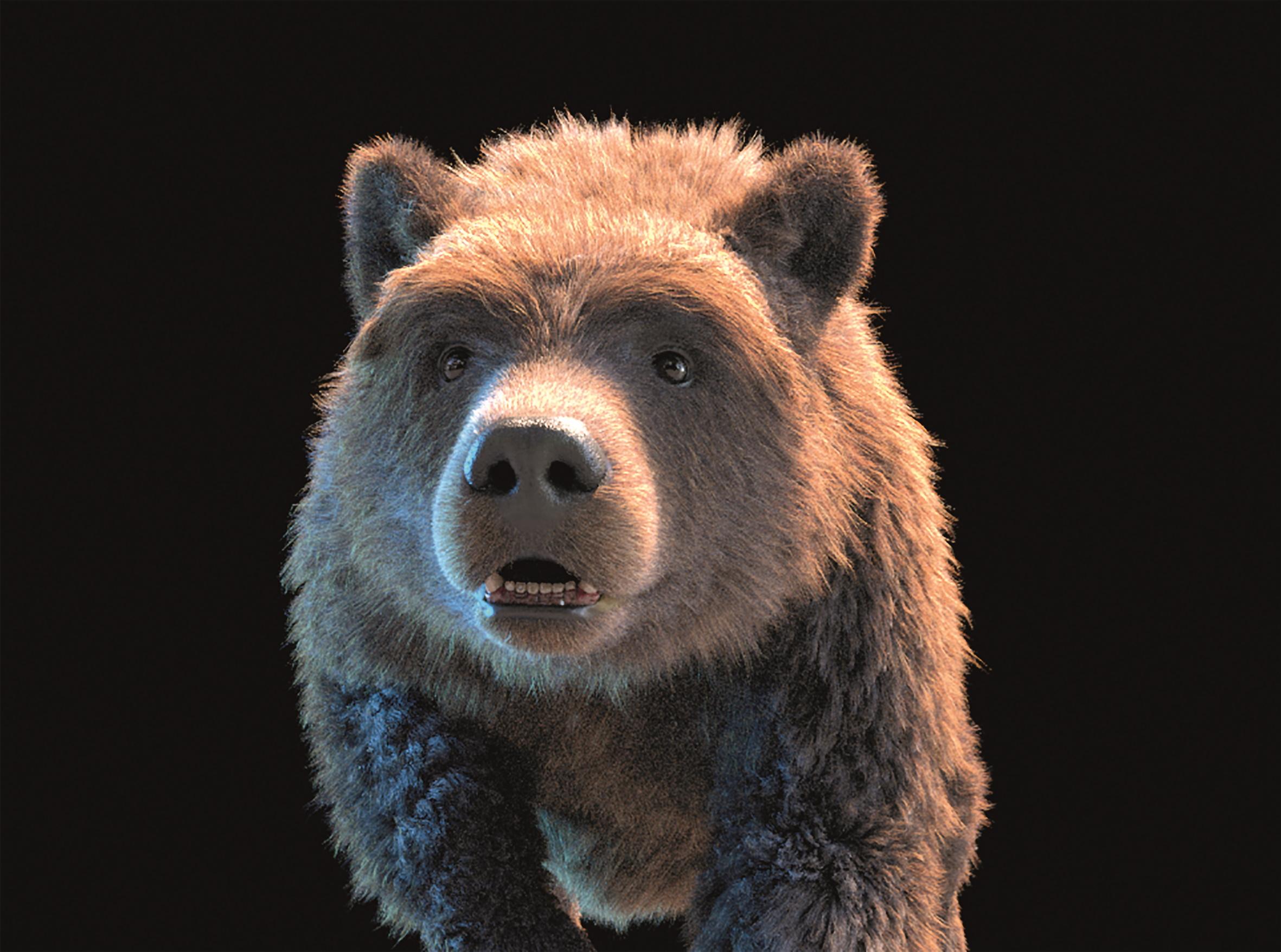 Bär mit ersten Fur-Tests