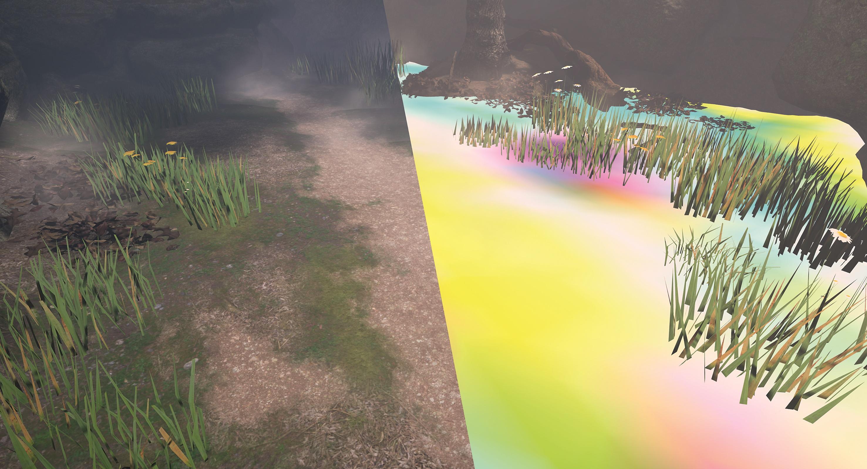 Abb. 13: Das Shading der Außenszenen basiert auf fünf Basismaterialien.