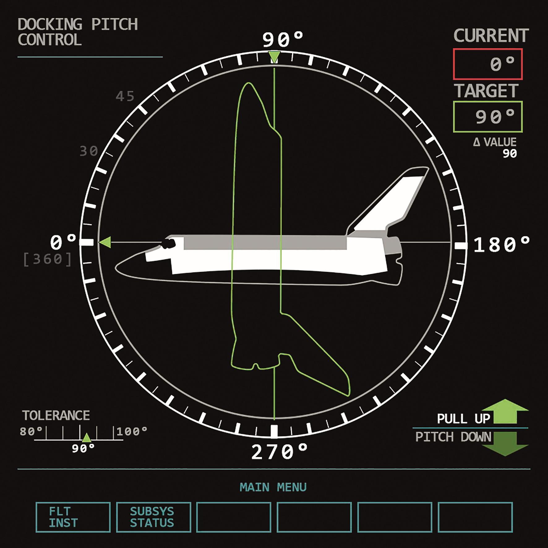 Eines von mehreren animierten Interface-Elementen für das Cockpit