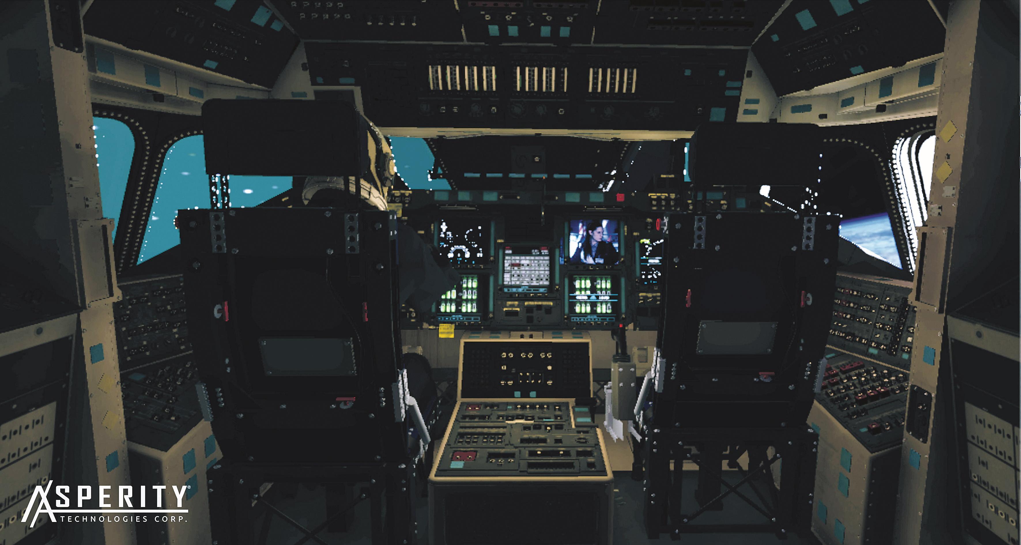 In-Game VR Screenshot vom Cockpit in der Unity Engine (Real time)