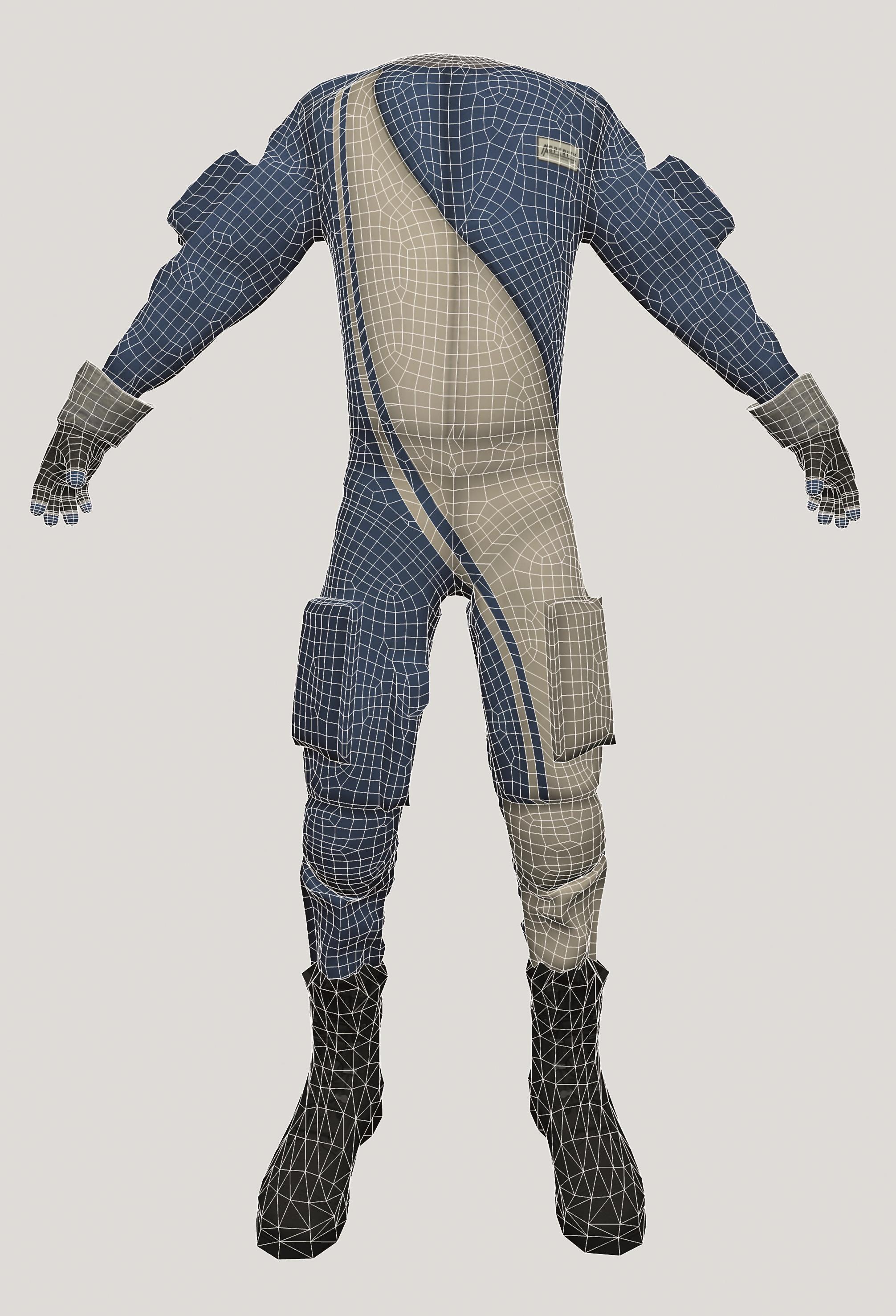 Design und Model des Anzugs in Marvelous Designer stammt von Marika Moritz.