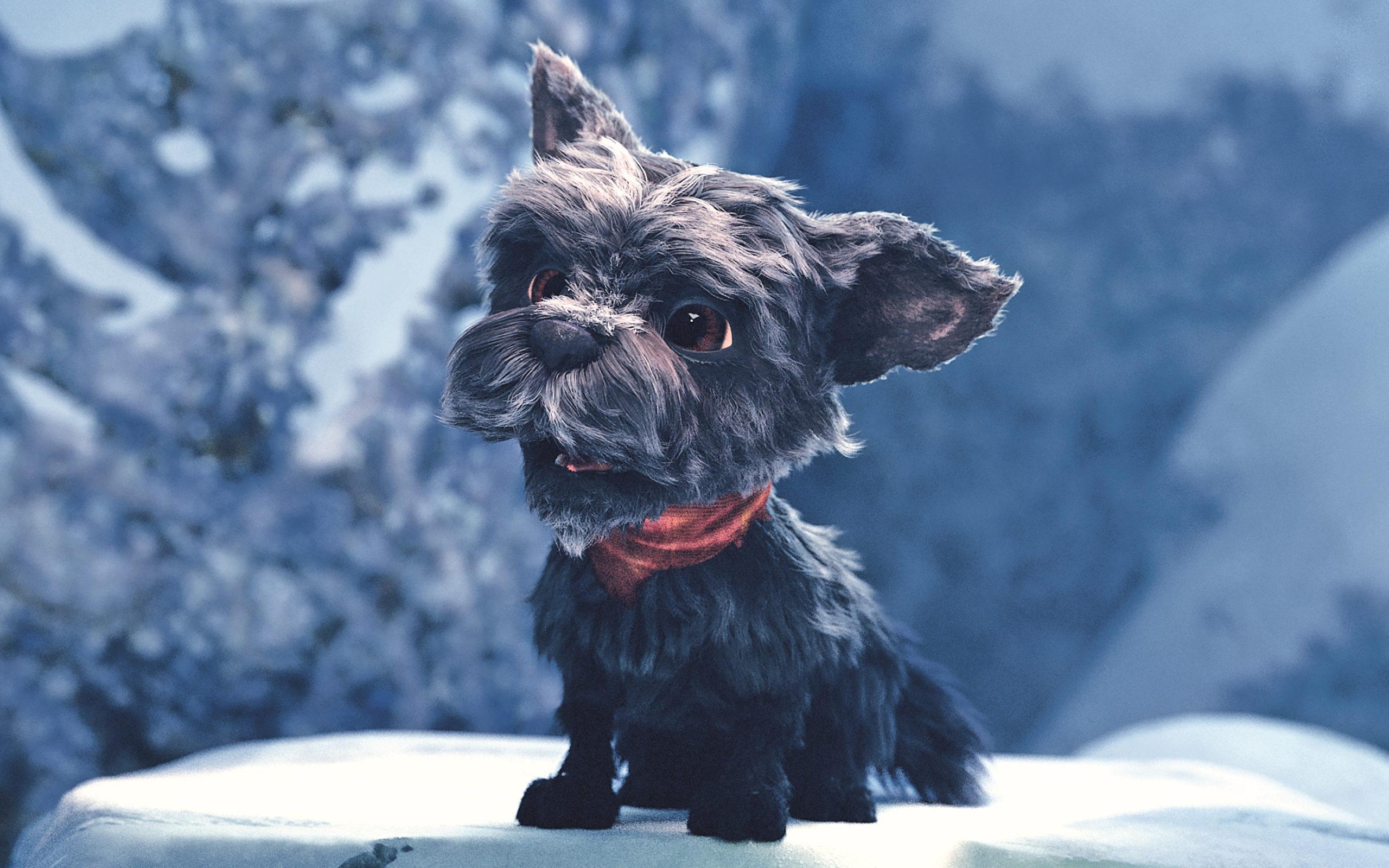 Der süße Sidekick von Spring ist ein Hund namens Autumn, hier zu sehen in einem frühen Testrender.