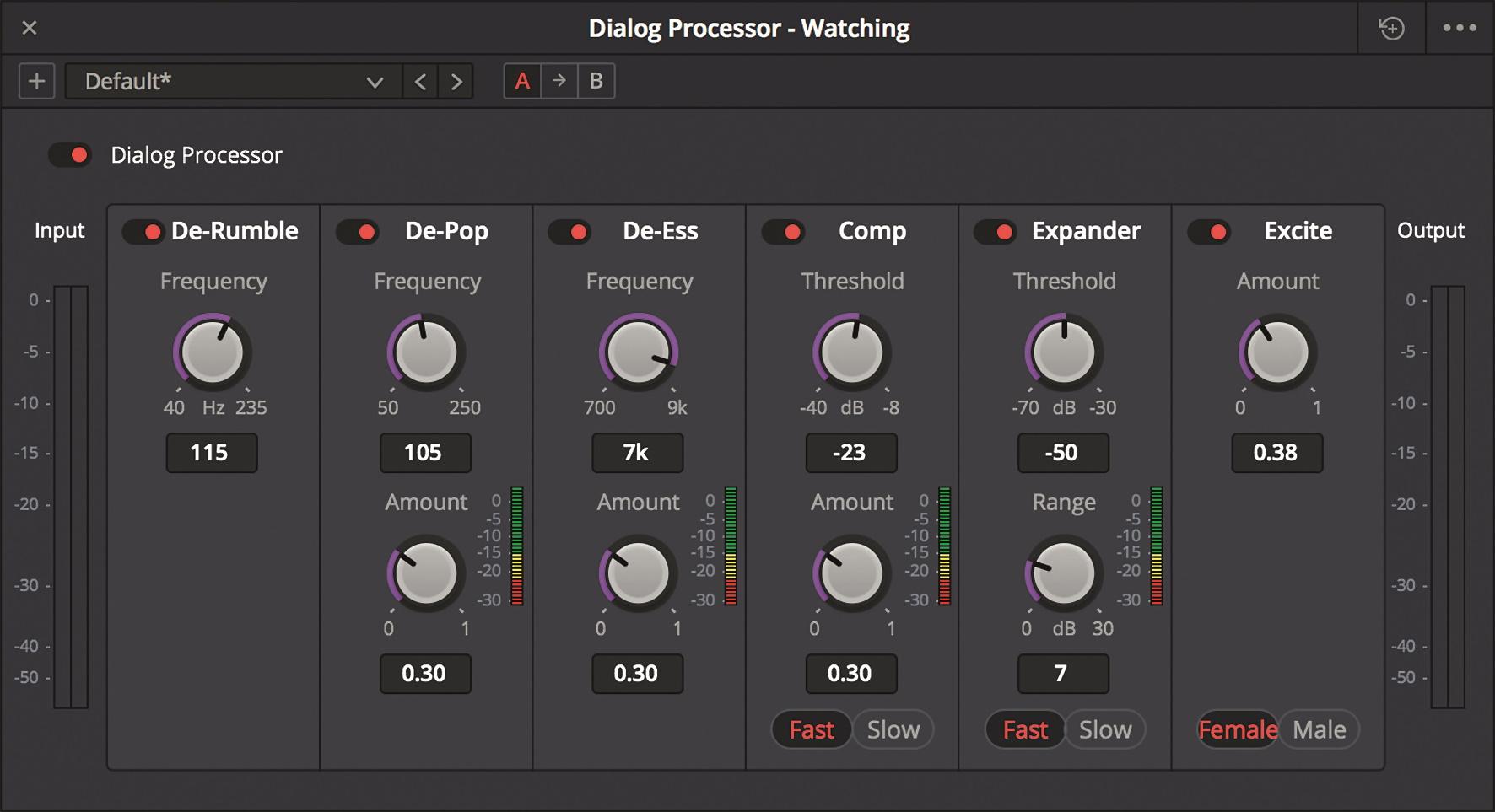 Die Werkzeuge zur Bearbeitung von Sprachaufnahmen finden sich nun im Dialog Processor.