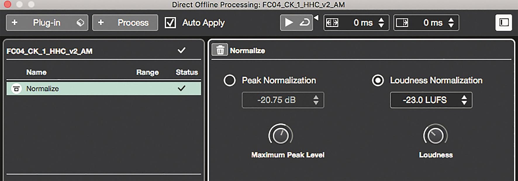 Nuendo kann Audio-Files nun auch auf Lautheit normalisieren.