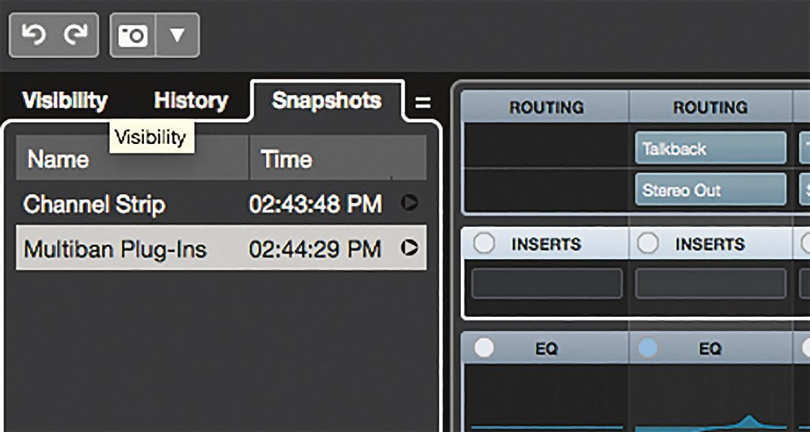 Eine Vollkasko-Versicherung für die Mischung bieten Nuendo 10 Audio Mischer Snapshots.