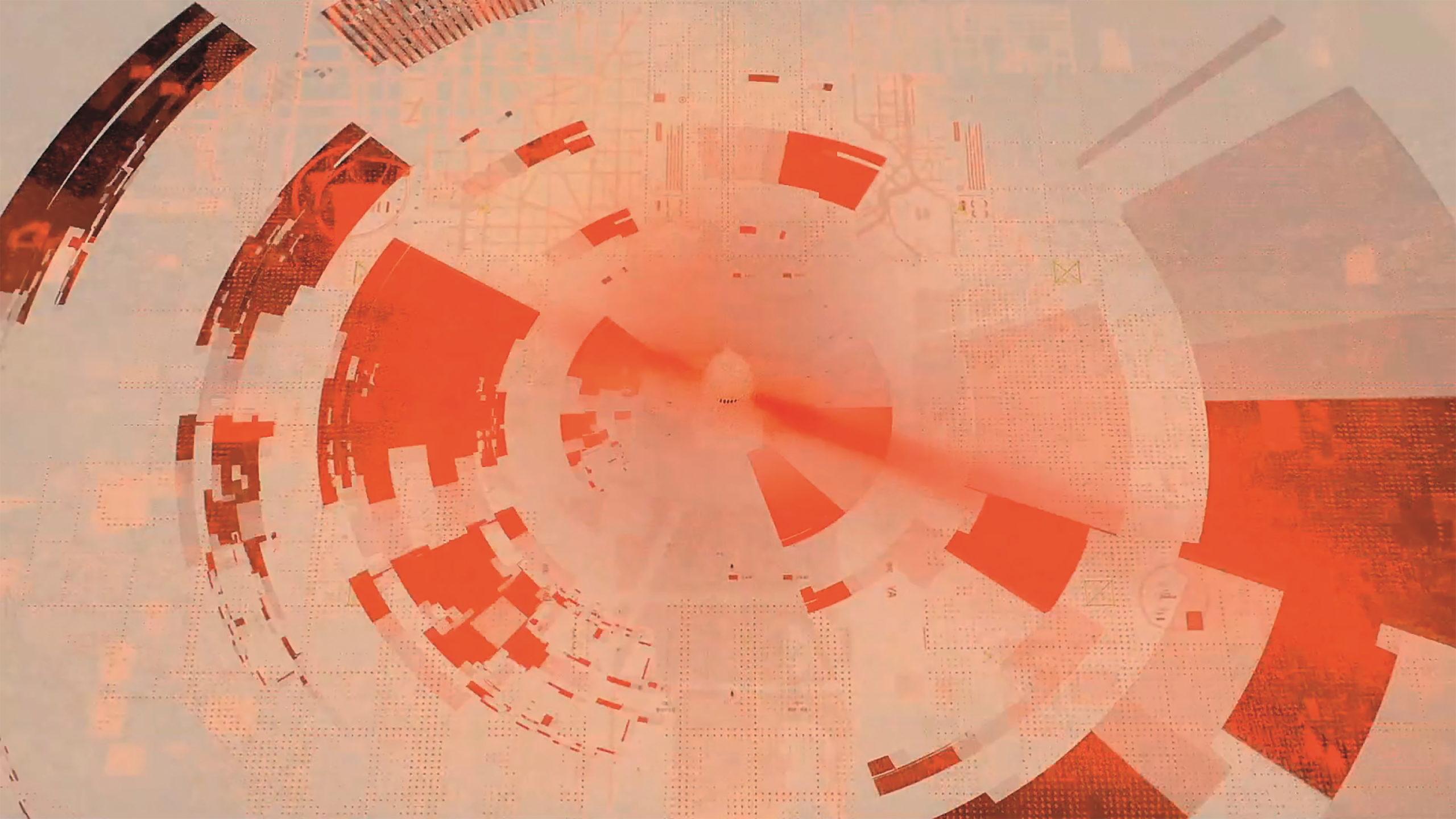 Dominiert wird der Trailer von der Farbe Orange, oft kombiniert mit Pink- und Rottönen.