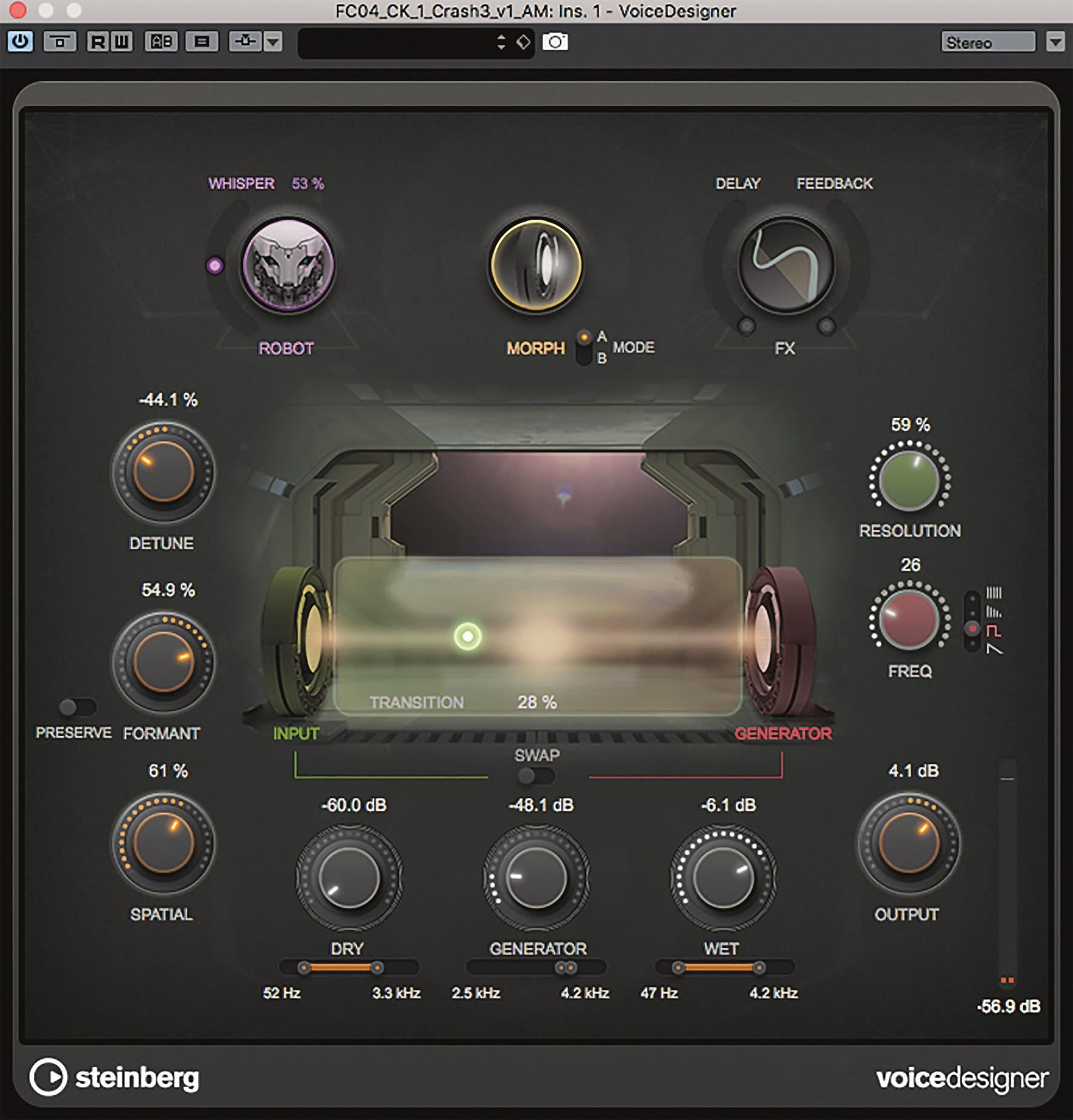 Der Voice Designer sieht nicht nur schön aus, sondern klingt auch gut und abwechslungsreich.