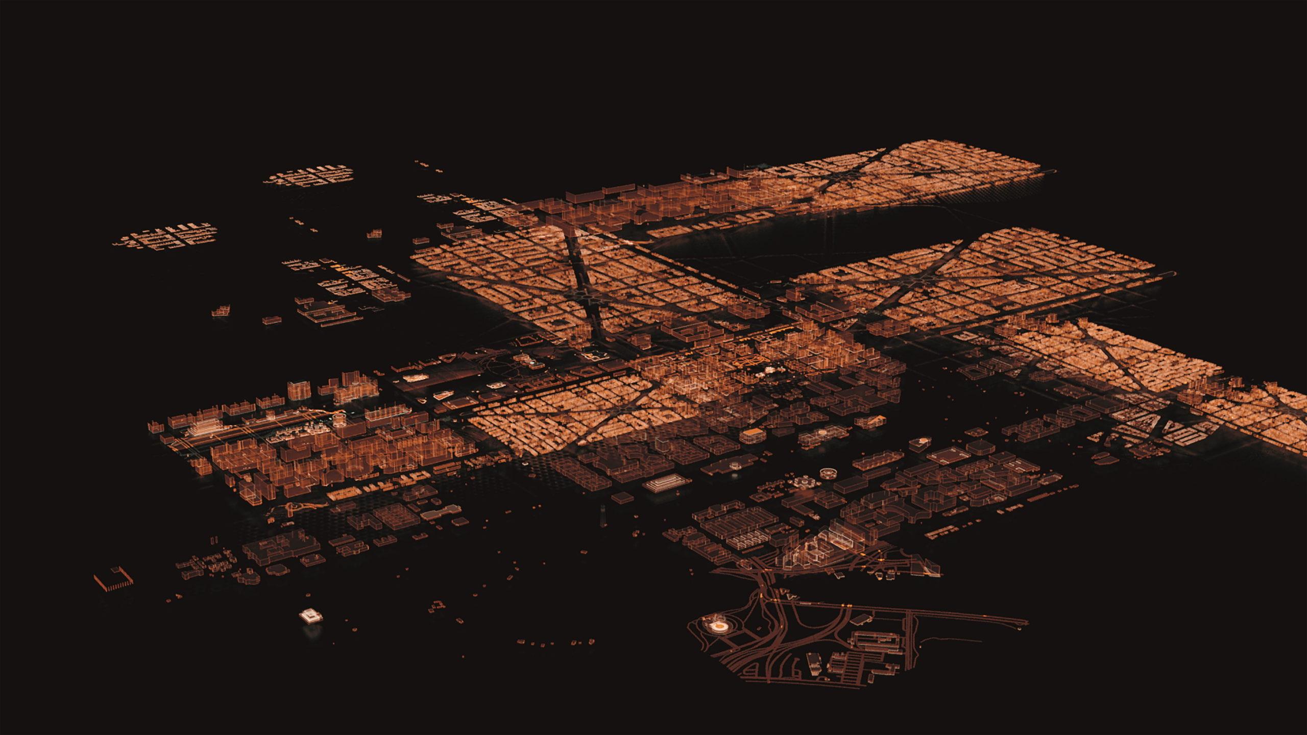 Washington aus der Luftansicht