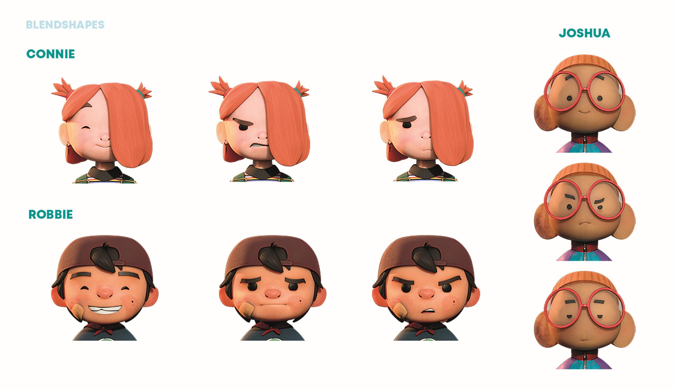 Animation Blendshapes der Charaktere