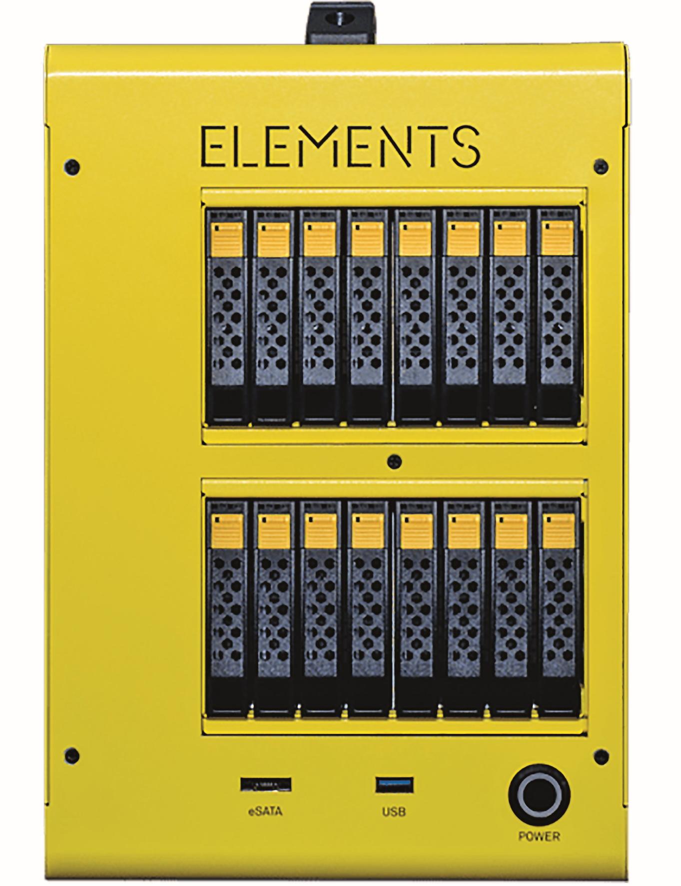 Der Cube mit maximal 32 Tbyte (16 Laufwerke) als RAID6. Mit 40 auf 20 auf 30 cm die beste Variante, den Platz im Studio sinnvoll auszunutzen.