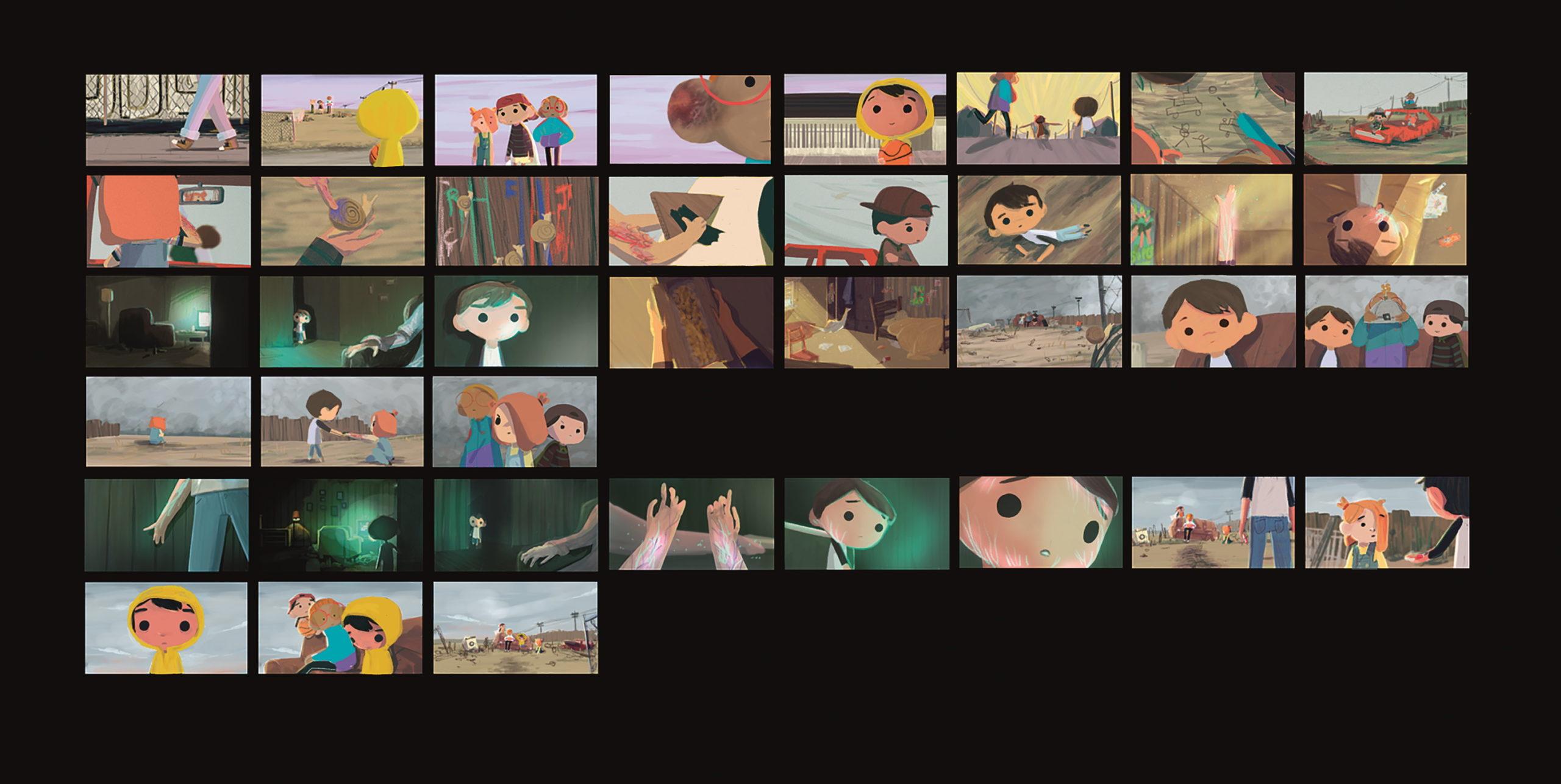 Die Colorboards waren während des ganzen Prozesses hindurch wichtig, um den Look des Films kohärent zu halten.