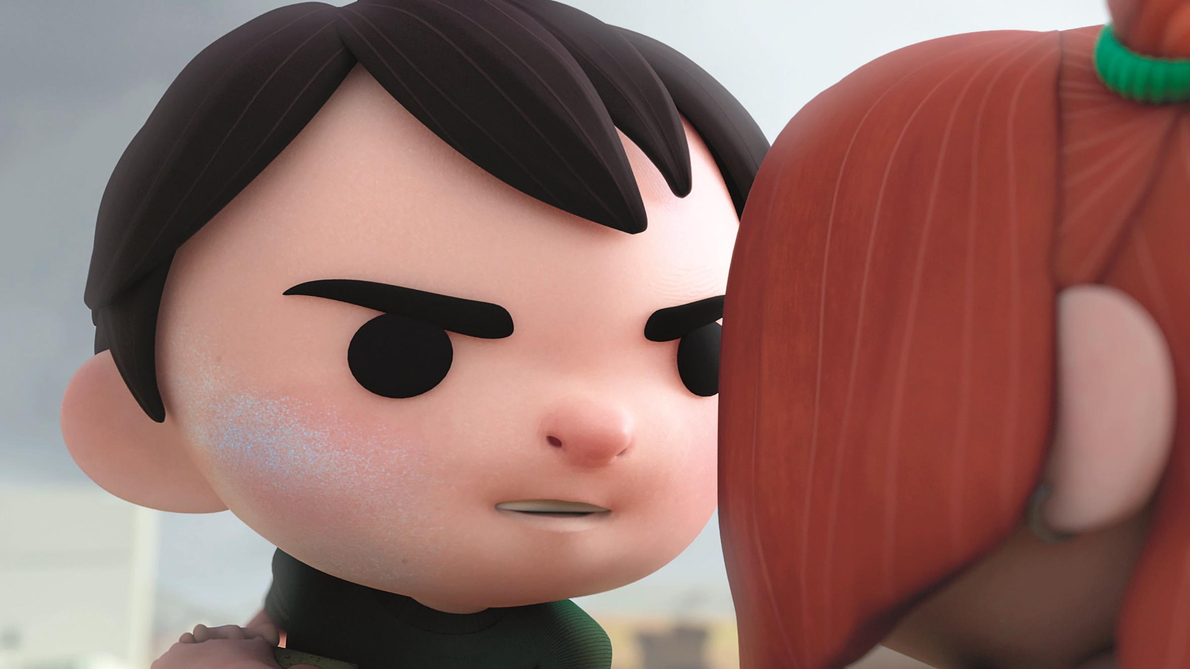 Das Design der Charaktere mit dem großen Kopf und den schwarzen Augen bot im Animationsprozess viele Herausforderungen. Da die Bewegungen subtil bleiben sollten, zählte jedes Animationsdetail.