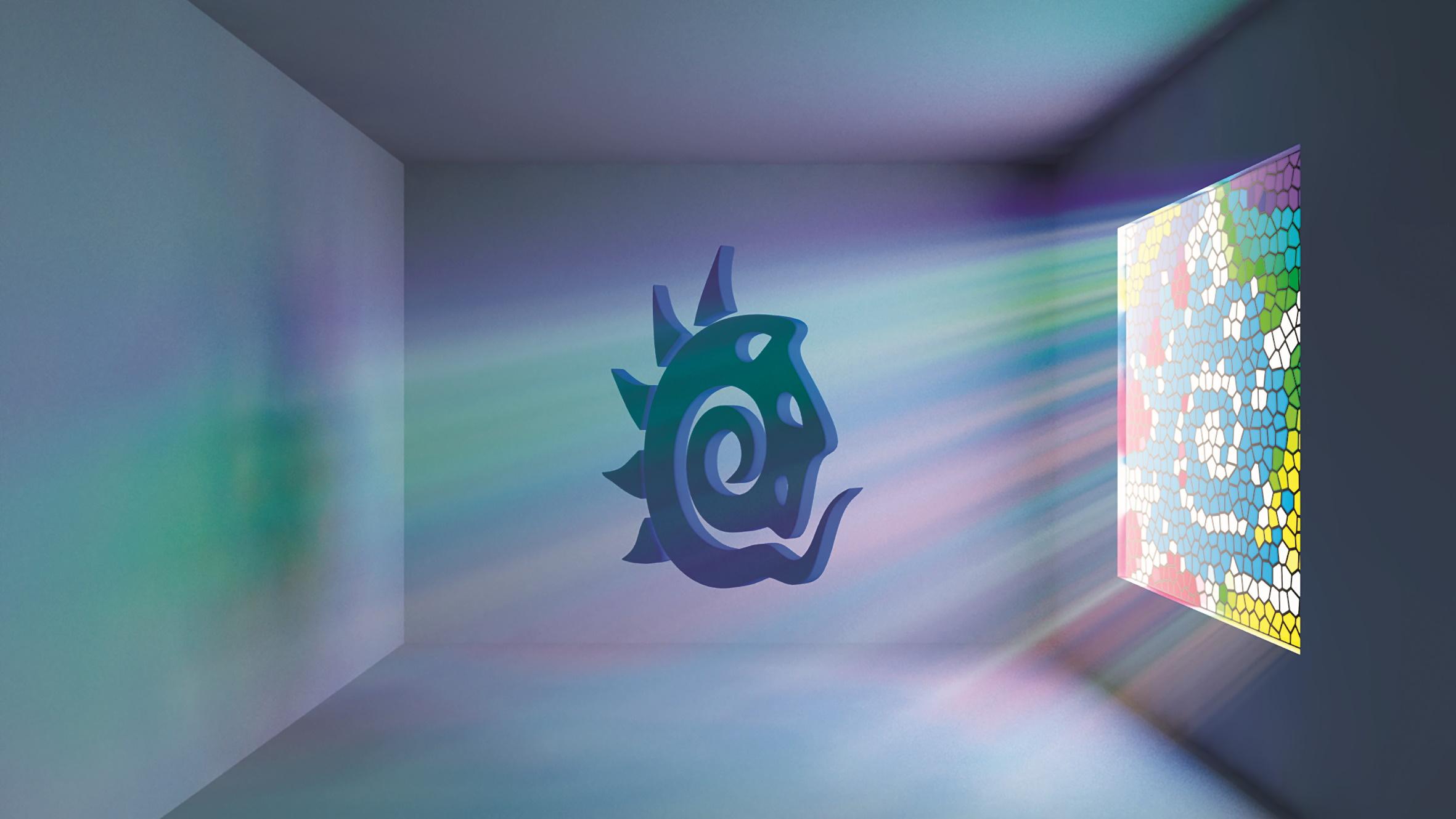 Ein Testrendering zu volumetrischem Licht